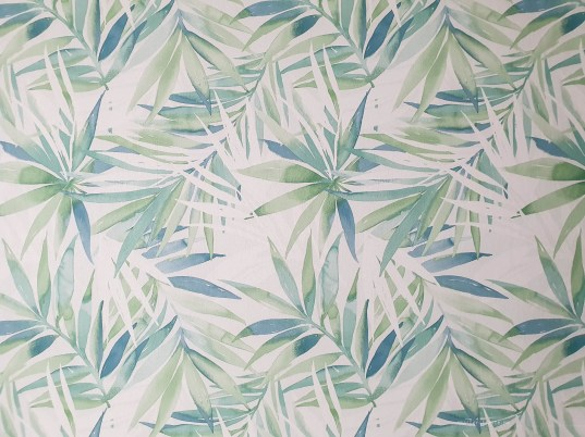Green leaves that look like they're painted on with watercolours. It was a wallpaper on one of the walls in the apartment.