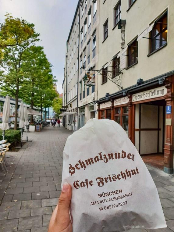 Munich schmalznudel. cafe Frischhut take away