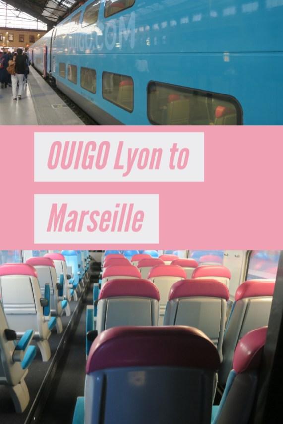 OUIGO train Lyon to Marseille France