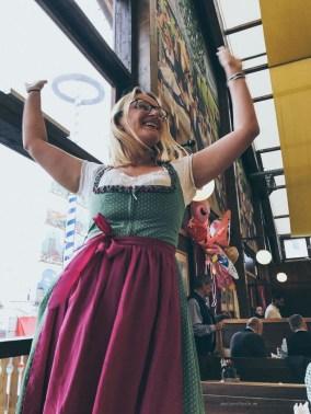 Oktoberfest Munich road trip Paulaner tent Aga dancing