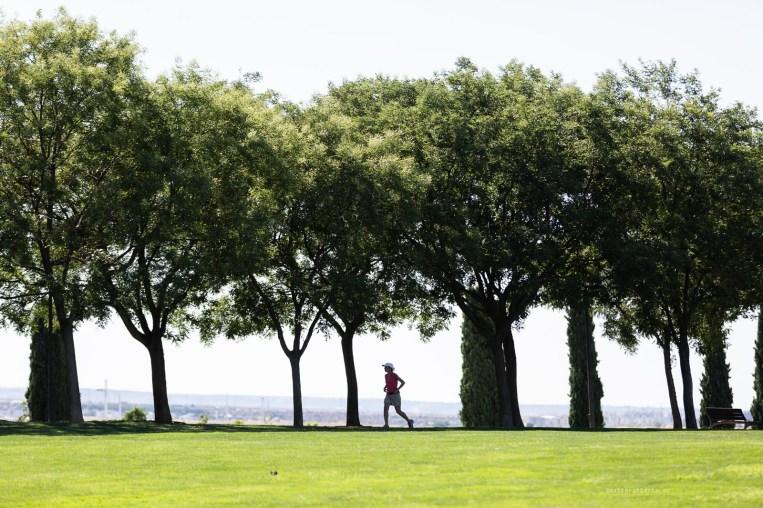 Public spaces in Madrid Juan Carlos park