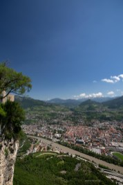 View of Trento from top of the mountain.