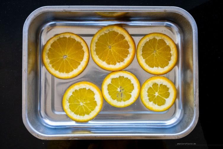 orange cardamom cake - gin soaked orange slices