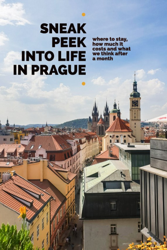 sneak peek into life in Prague