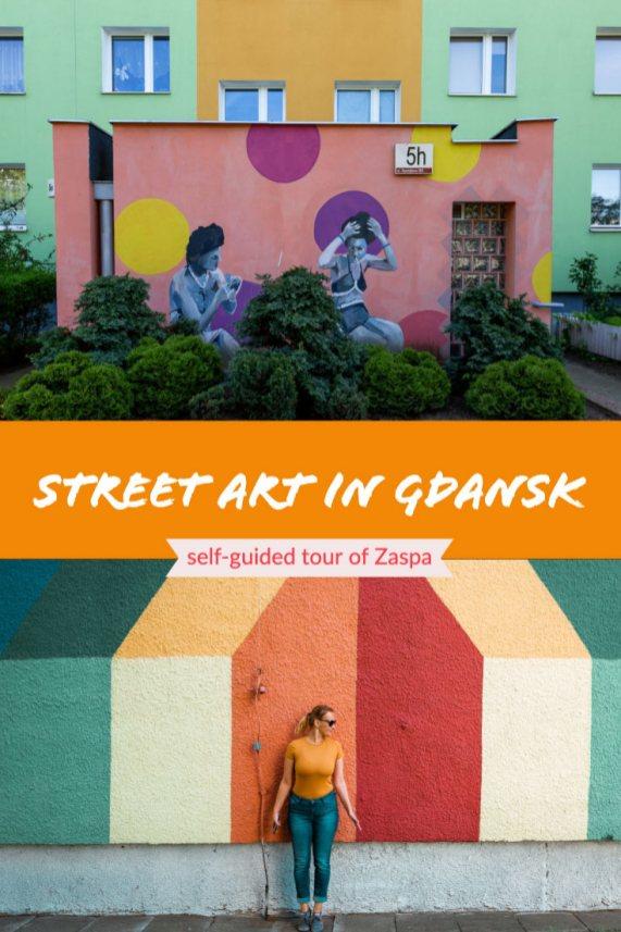 street art in Gdansk - self-guided tour of Zaspa