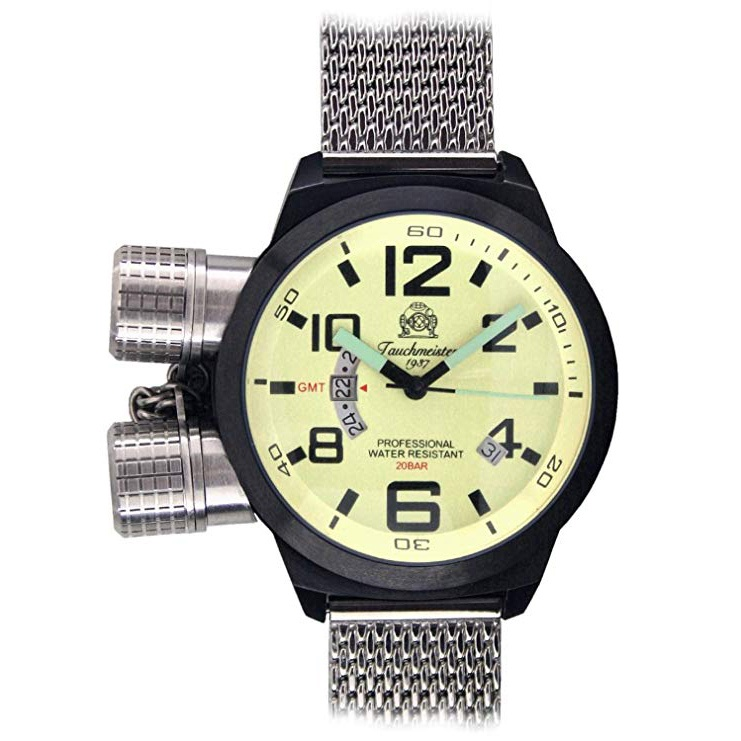 """Tauchmeister 1937 Special Diver Watch """"double Crown System"""