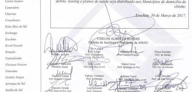 Prefeitos da AMAU comemoram a derrubada do veto presidencial sobre a cobrança do ISS