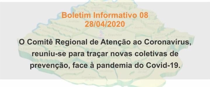BOLETIM INFORMATIVO 08 – 28/04/2020