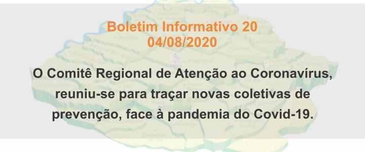 BOLETIM INFORMATIVO 20 – 04/08/2020
