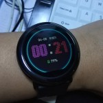 Neon Lights Amazfit Pace Watch Face