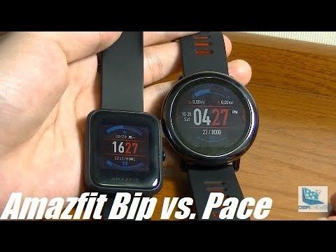 Comparison Huami Amazfit Pace Vs Bip Smartwatch