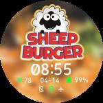 Sheep Burger Watch Face