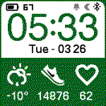 «koicg» by koic2 | Amazfit WatchFaces catalog