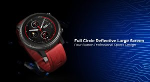 Smart Sports Watch 3 has a 1.34-inch transflective display developed by the Japanese company JDI