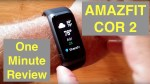 XIAOMI AMAZFIT COR 2 MiDong 5ATM Waterproof Smart Bracelet / Smartband:  One Minute Overview