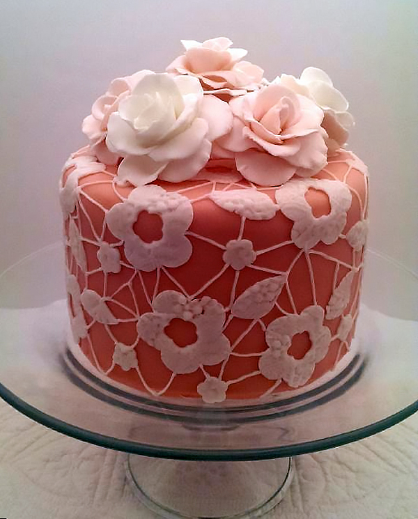 Lace And Floral Tea Party Cake Amazing Cake Ideas