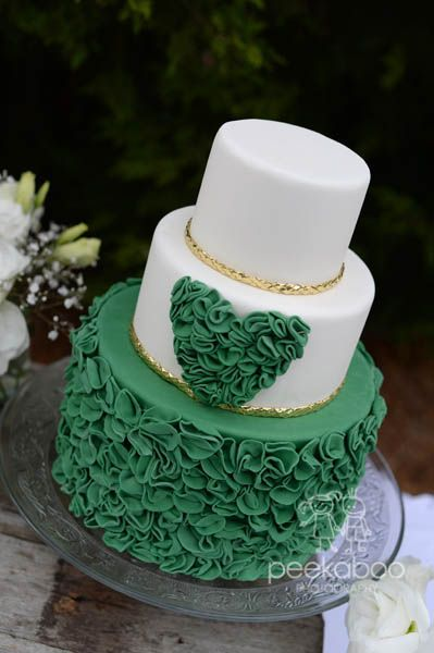 Emerald Green Wedding Cake  Amazing Cake Ideas