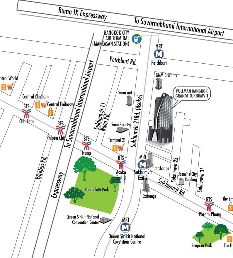 แผนที่ Pullman Bangkok Grande Sukhumvit
