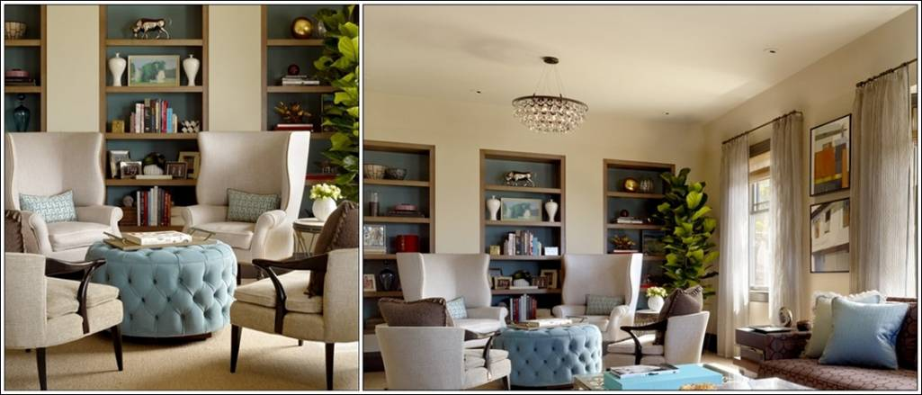 4 chairs in living room wall shelving create magic with four this area being a part of large is all what we call coziness its seating combination