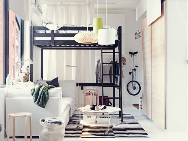 small bedroom spaces Ikea ideas for small appartments