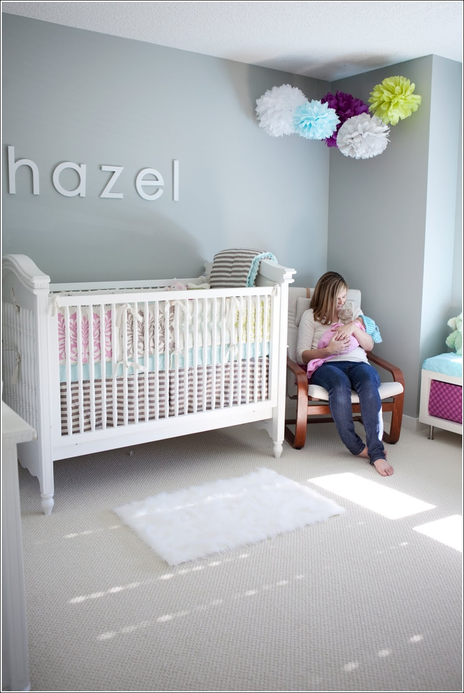 Decorate Your Darling Babys Nursery with Pom Poms