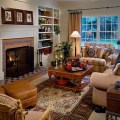 Fun and colorful country home with different patterns of the country
