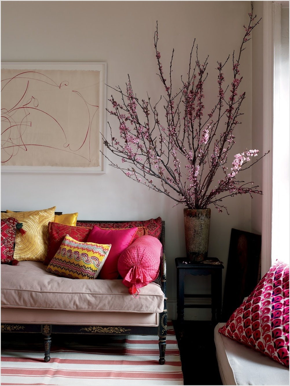 Interior Decor With Cherry Blossoms !