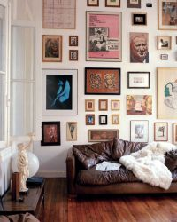 Let it be Art- Cool Wall Displays Above the Sofa