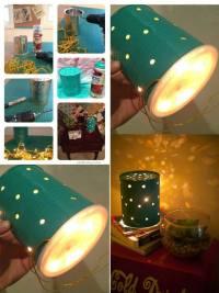 DIY- Tin Can Lamp