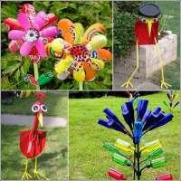 Garden Art Using Recycled Materials