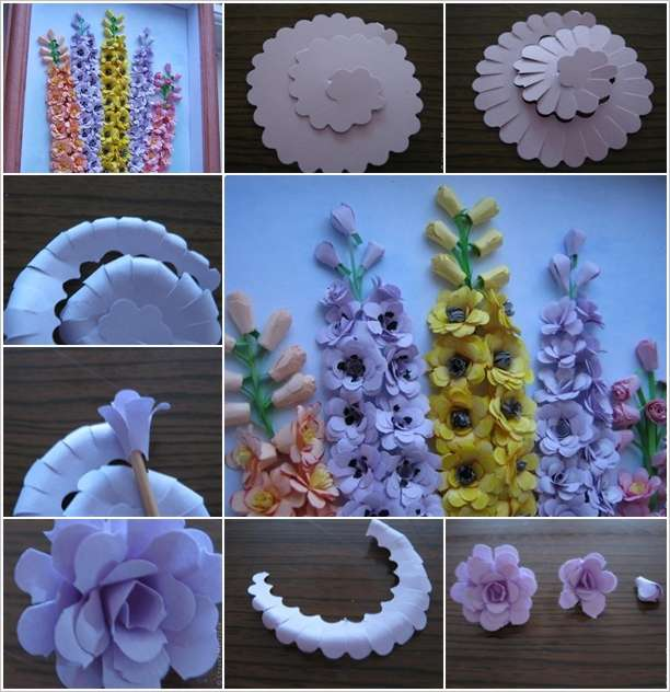 Craft This Spectacular Paper Flower Wall Art