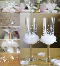 Amazing Rose Wine Glass Decor Idea for Weddings