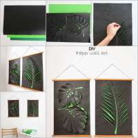 Craft This Cool Leaf Paper Wall Art for Your Home