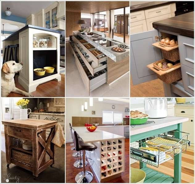 15 Clever Kitchen Island Hacks To Make It More Functional