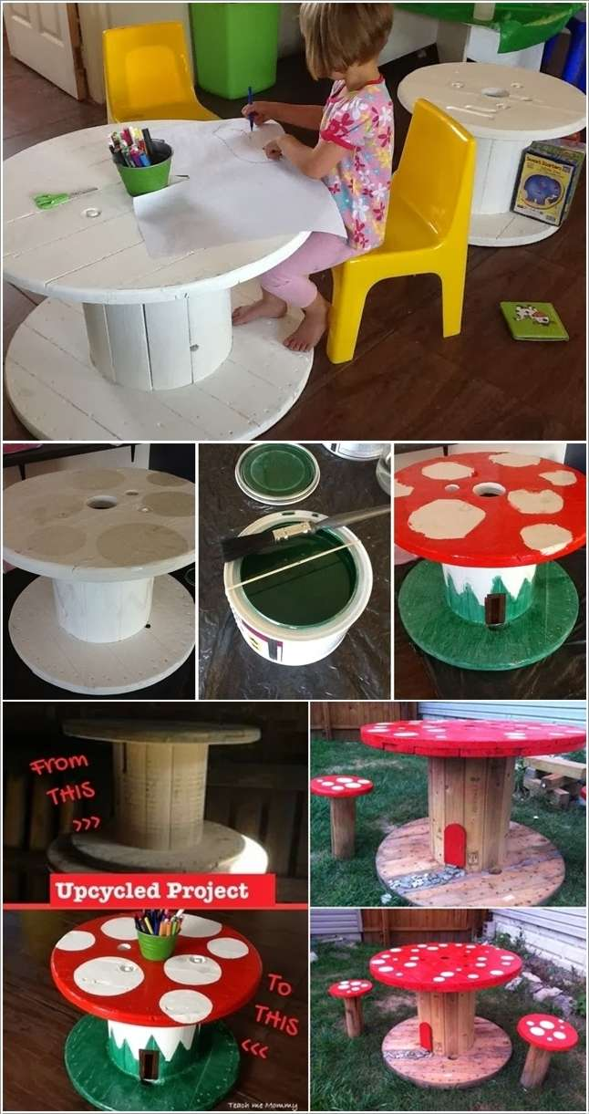 10 Totally Fun DIY Garden Table Ideas for Your Home