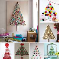 14 Wall Christmas Trees to Craft This Holiday Season