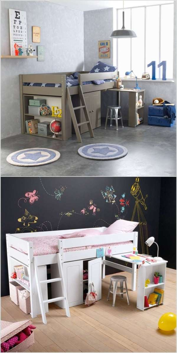 Space-saving Bed Design Kids' Room
