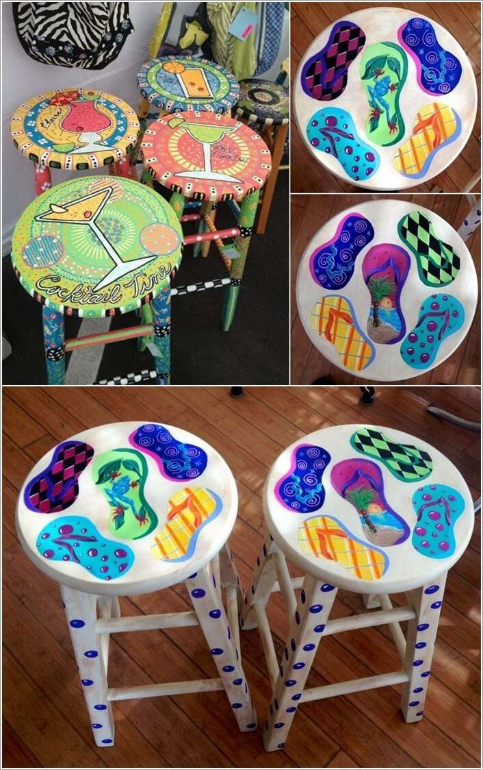 15 Clever Ideas to Recycle Old Bar Stools