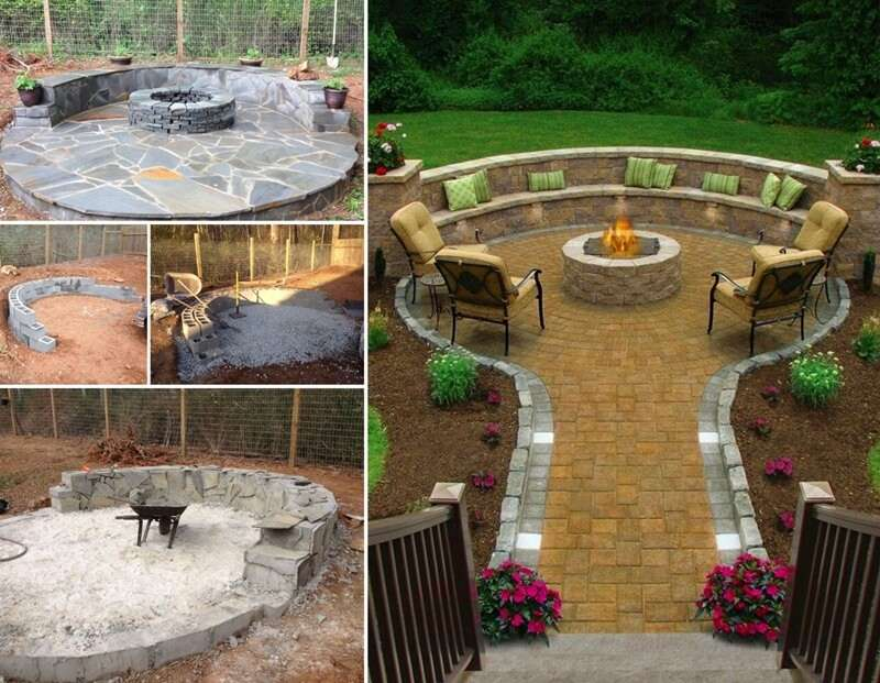 This Flagstone Fire Pit Patio is Truly Amazing