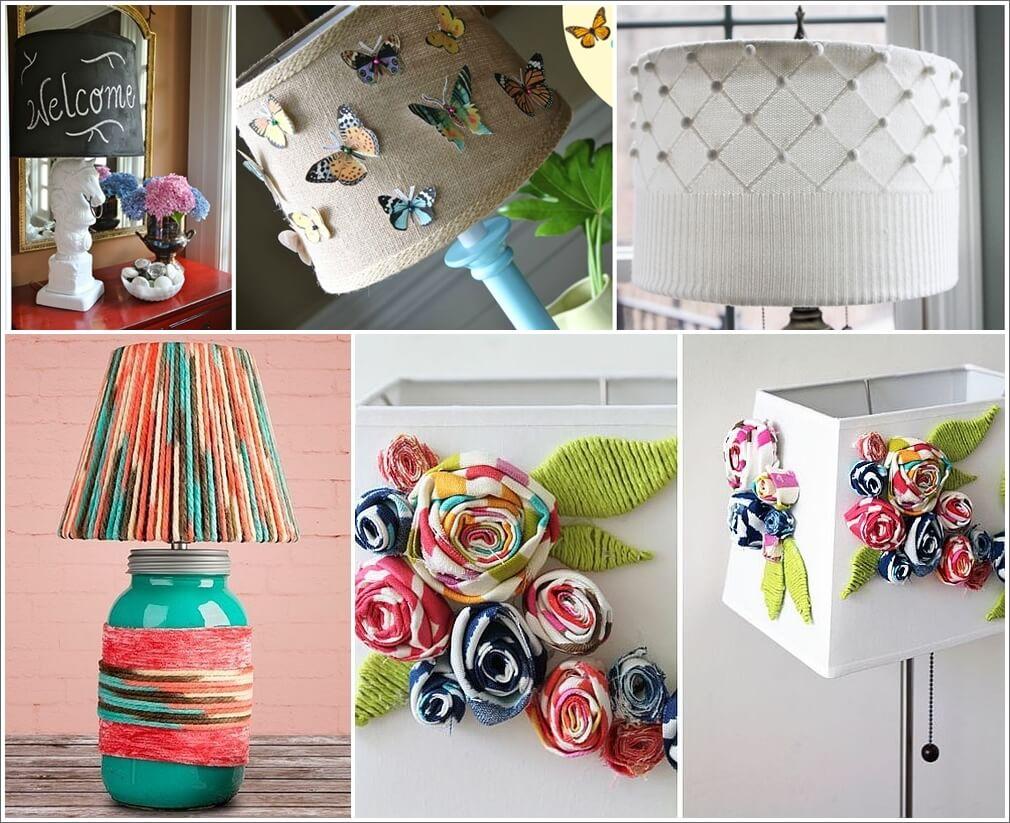 13 Creative Lampshade Makeover Ideas