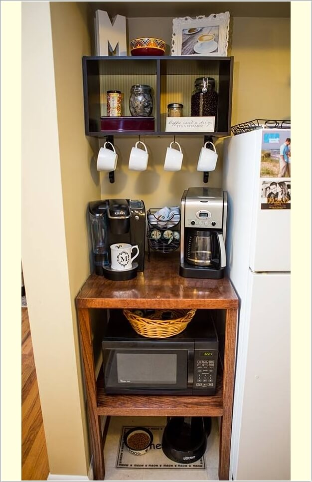 10 Places in Your Home Where You Can Set Up a Coffee Station