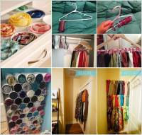 10 Clever Hacks to Organize Your Scarves