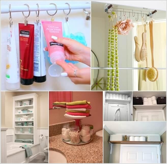10 Ingenious and Cool Bathroom Storage Hacks