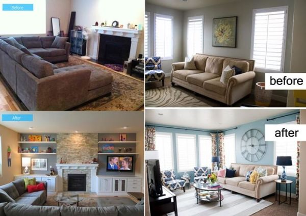 small space living room makeover Inspiring Before and After Living Room Makeovers