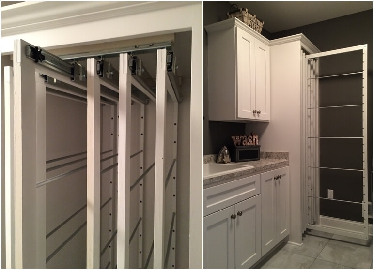 13 Clever Pull Out Laundry Storage and Organization Ideas