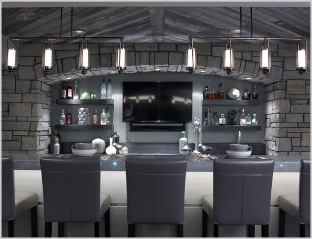 10 Cool and Creative Home Bar Lighting Ideas