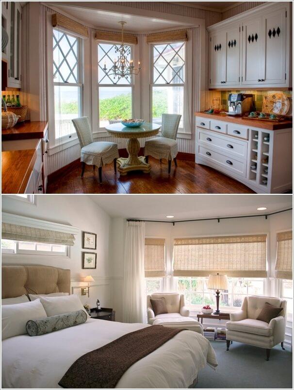 Bay Window Desk For A Bedroom
