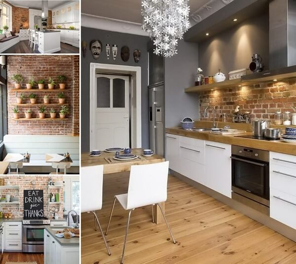 67 Amazing Kitchens with Exposed Brick Walls