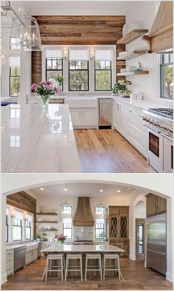 reclaimed wood kitchen island c decorate your in charming farmhouse style