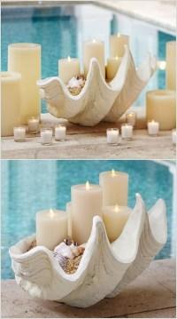 Mesmerizing DIY Coastal Candle Holder Ideas